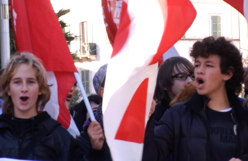Mercoledì 17 novembre, gli studenti sambenedettesi protestano contro i tagli alla scuola pubblica