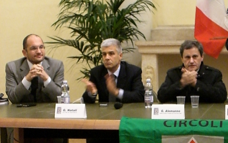 Guido Castelli, Giulio Natali, Gianni Alemanno