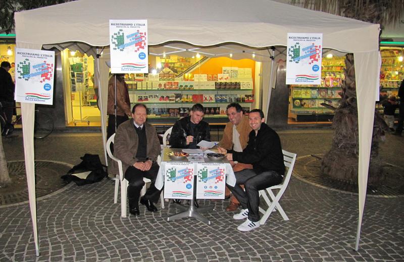 Stand a San Benedetto per il tesseramento