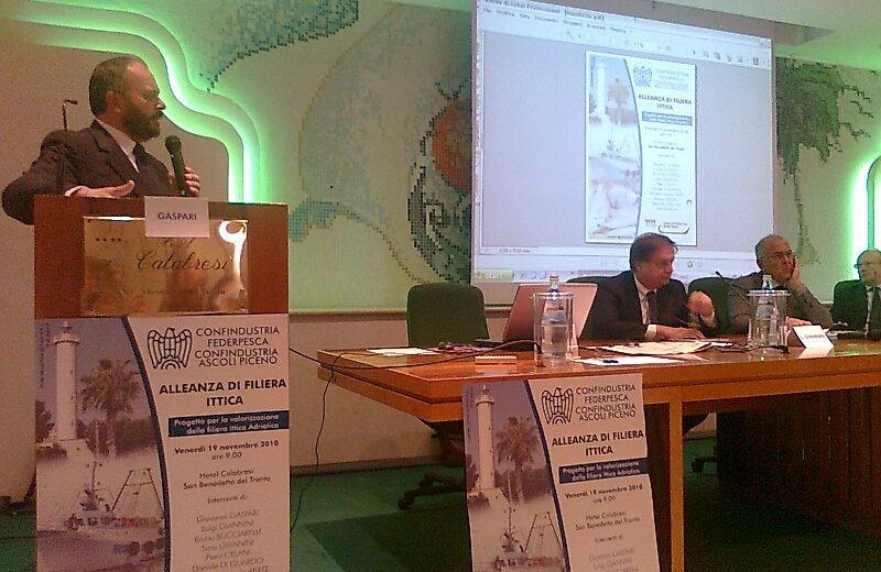 Il sindaco Gaspari e il direttore generale di Federpesca Luigi Giannini