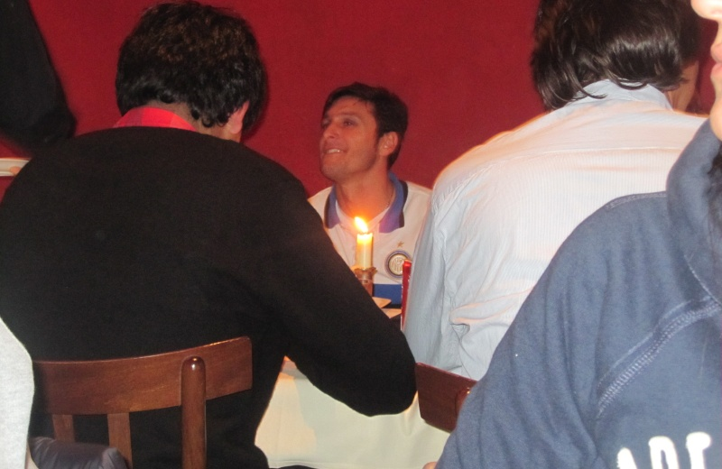 Javier Zanetti,nel suo ristorante, El Gaucho