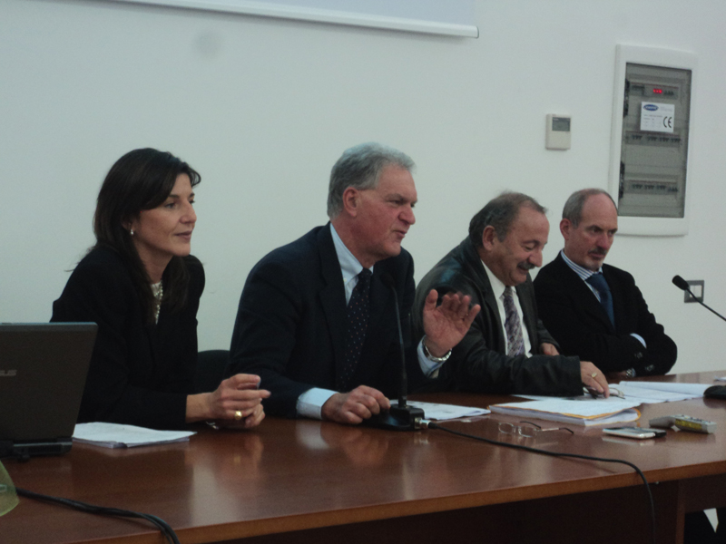 Maria Pia Spurio, Piero Celani, l'assessore Petrucci, Alfonso Sgattoni