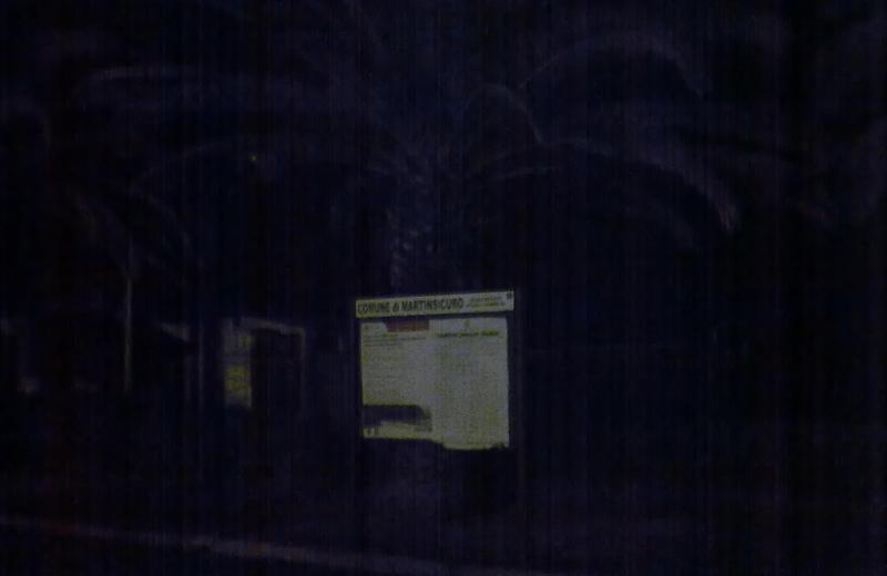 Il lungomare di Martinsicuro al buio (foto Città Attiva)