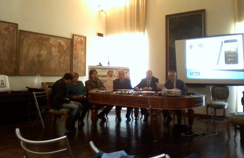 Un momento della presentazione delle audioguide dei musei di Ascoli