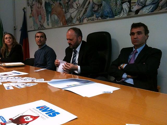 Da sinistra: Vanessa Massacci, Maurizio Socionovo, Giovanni Gaspari, Marco Lorenzetti