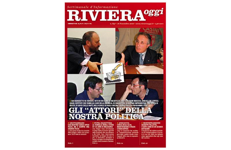 La copertina di Riviera Oggi numero 847