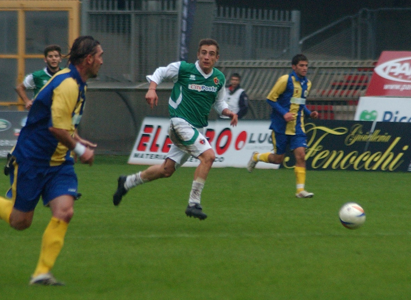 Riccardo Cuccù, nel suo esordio contro l'Atletico Trivento (foto Troiani)