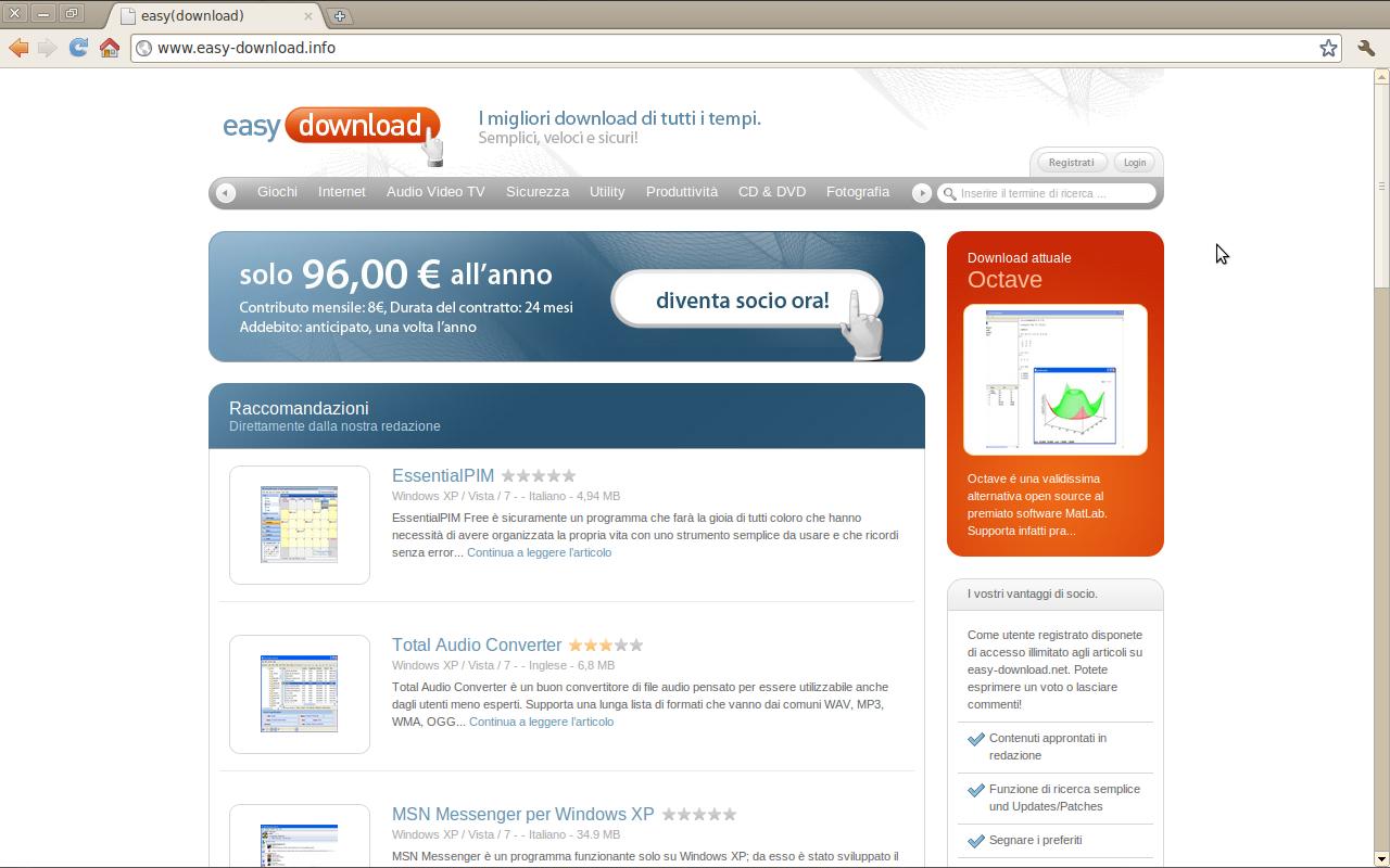 Sito web easy-download.info della società Euro Content Limited