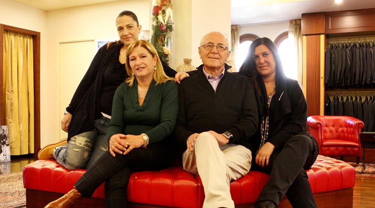 La famiglia Ricci nella Boutique