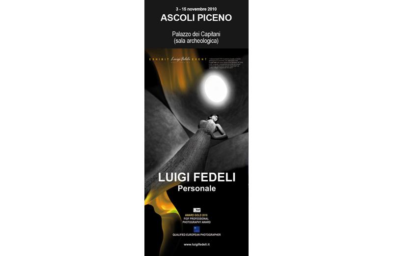 Locandina della mostra di Luigi Fedeli