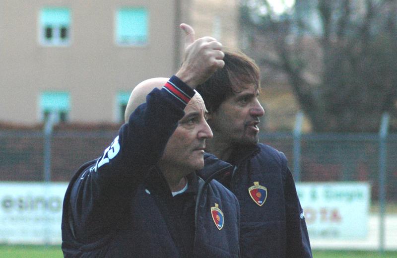 Tutto bene per Tiziano Giudici. Dietro di lui il team manager Pierluigi Tassotti (foto Troiani)