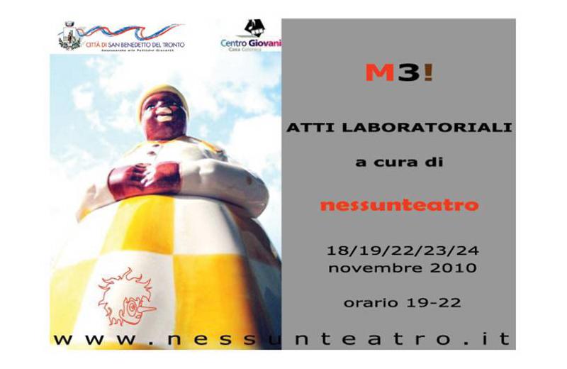 Locandina del laboratorio teatrale M3