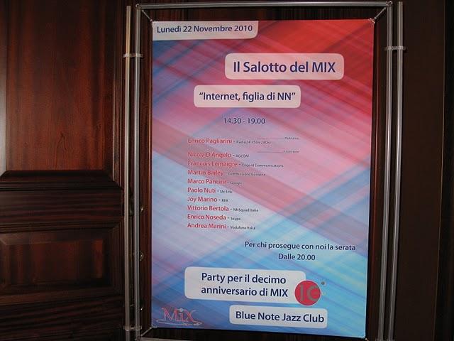 Il salotto del Mix 2010. Manifesto