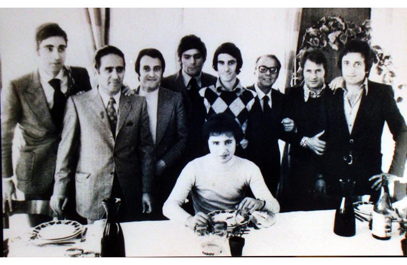 Santirocco con Ugo La Malfa e altri Repubblicani sambenedettesi in una vecchia foto