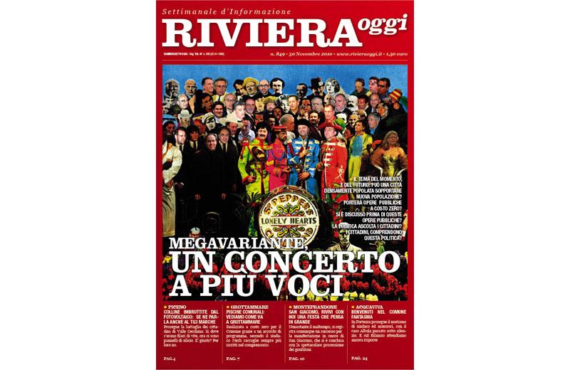 La copertina di Riviera Oggi numero 849