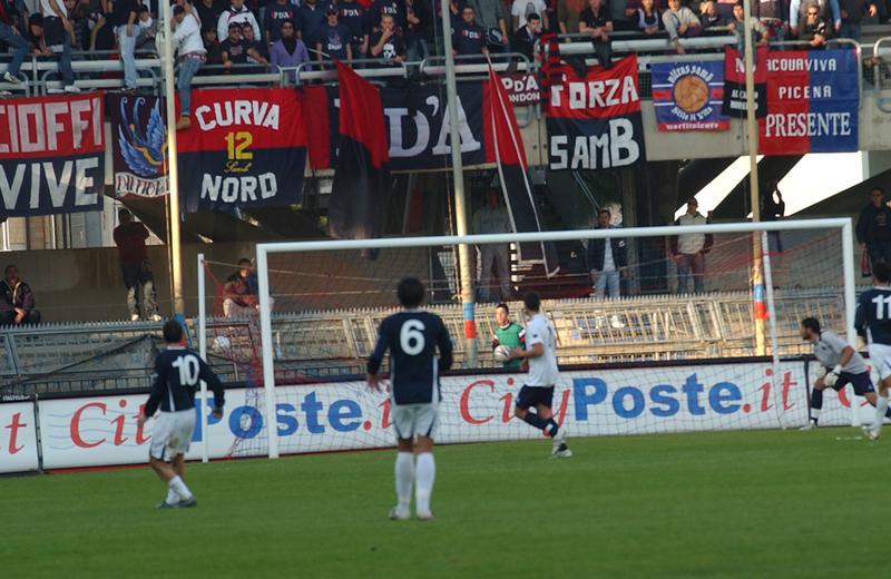 Marucci inventa il gol della domenica: è il parziale 1-2 di Samb-Bojano (foto Troiani)