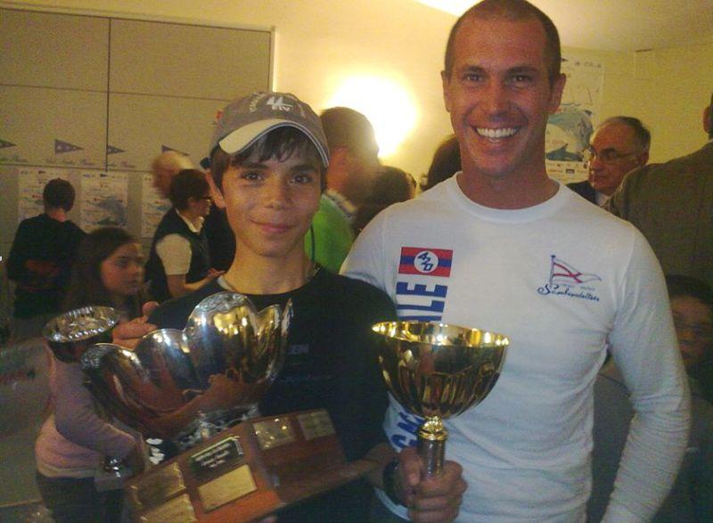 Vela: Matteo Pincherle con il coach Nicolas Antonelli