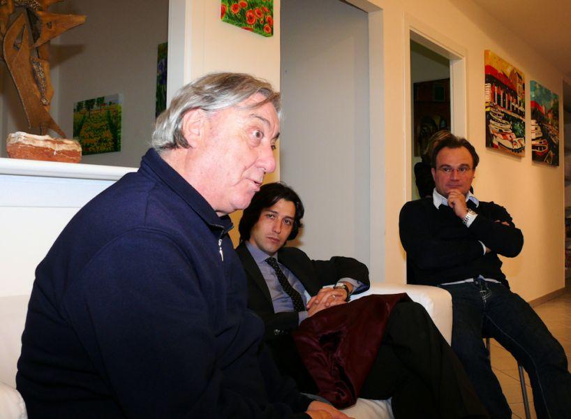 Giarmando Dimarti, qui con Enrico Piergallini e Marcello Mongiello