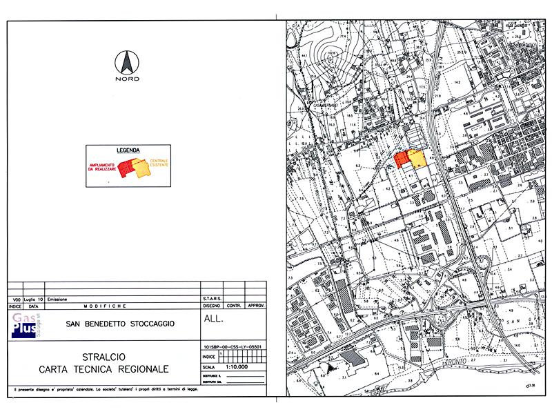 Mega deposito sotterraneo per lo stoccaggio di gas: la planimetria catastale dell'area interessata fra via Val Tiberina e via Salaria