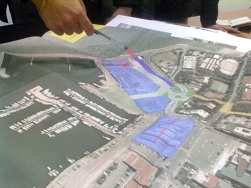 Una planimetria della zona portuale e dei cantieri