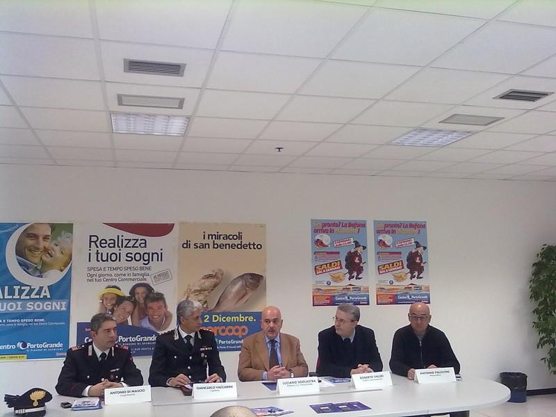 Il luogotenente Antonio Di Mascio, il Capitano Giancarlo Vaccarini, Luciano Sgolastra, Roberto Valeri, Antonio Palestini