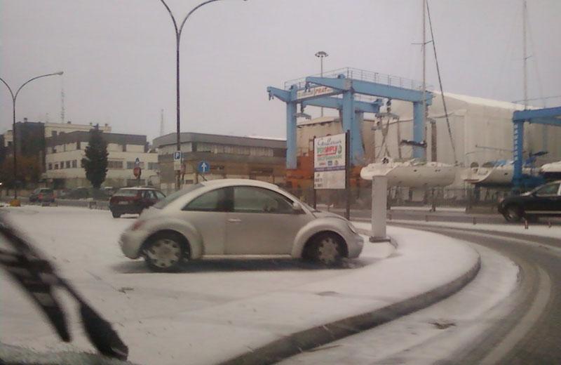 Neve al porto di San Benedetto, 14 dicembre 2010, ore 15:30