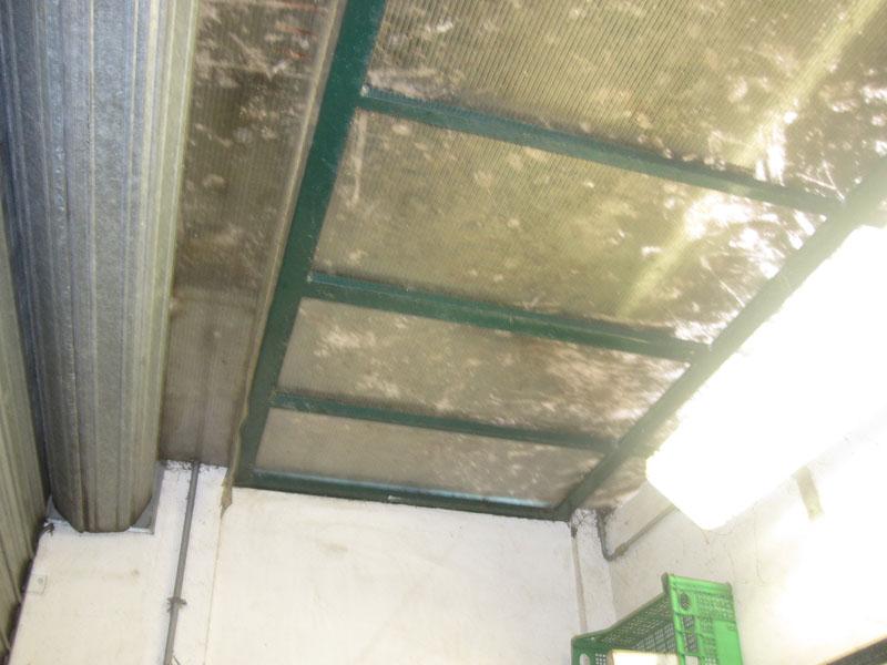 Mercato ortofrutticolo, il soffitto sporco