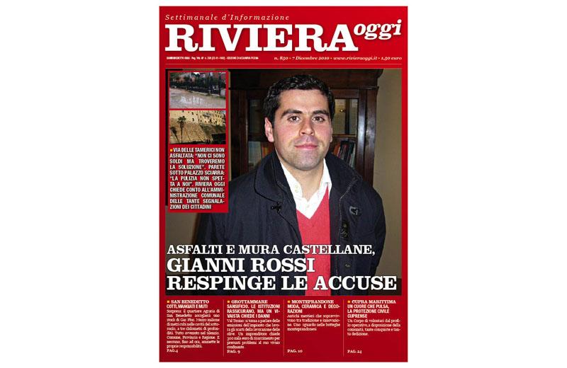 Riviera Oggi numero 850, la copertina per Acquaviva Picena