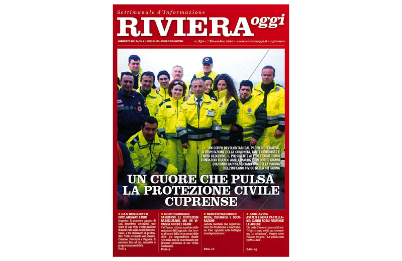 Riviera Oggi numero 850, la copertina per Cupra Marittima