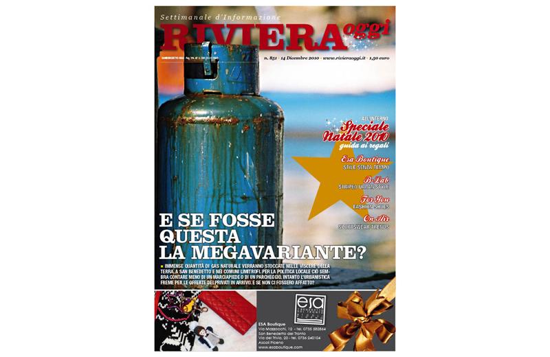 La copertina numero 851 di Riviera Oggi con inserto pubblicitario natalizio