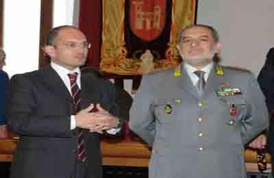 Da sinistra : Guido Castelli, Giuseppe Montanaro