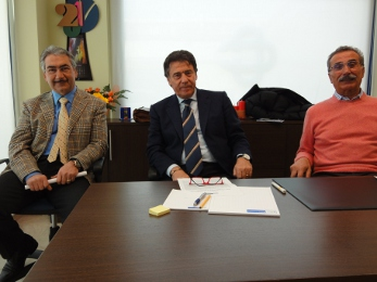 Da sinistra, Giampiero Fioravanti, Gino Marini e Gino Gasparretti