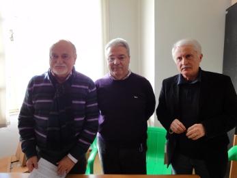 Da sinistra, Pietro D'Angelo e Ernesto Corradetti e Giuseppe Marcucci