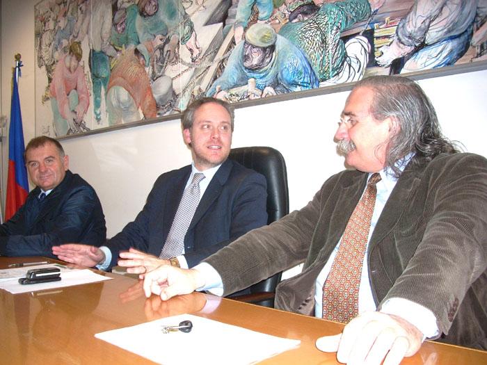 Partito Democratico, da sinistra Mandozzi-Di Francesco-D'Angelo