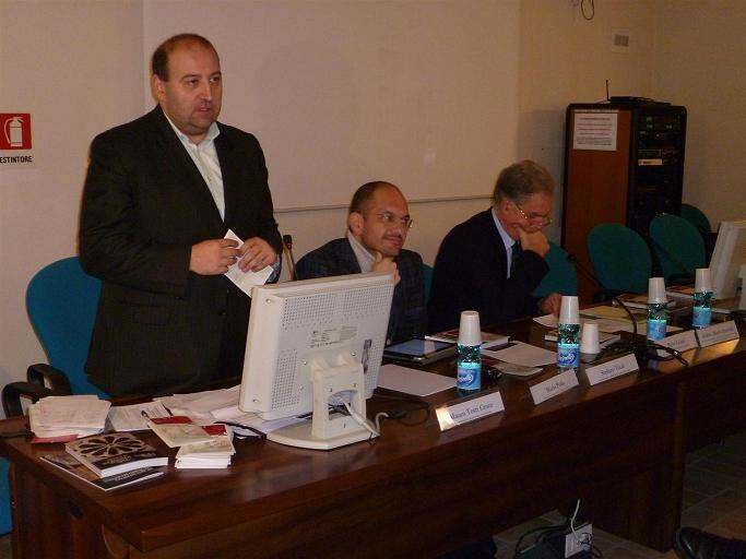 (Da sinistra) L'assessore Antonini, Guido Castelli e  Piero Celani