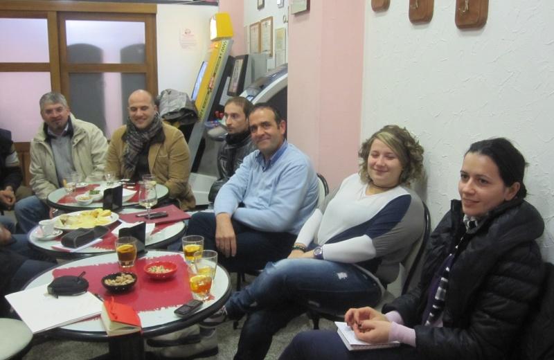 Da sinistra: Luigi Massa, Valerio Lucciarini, Claudio Sibillinii, Enio Marchei, Serena Nespeca, Melissa Tarquini