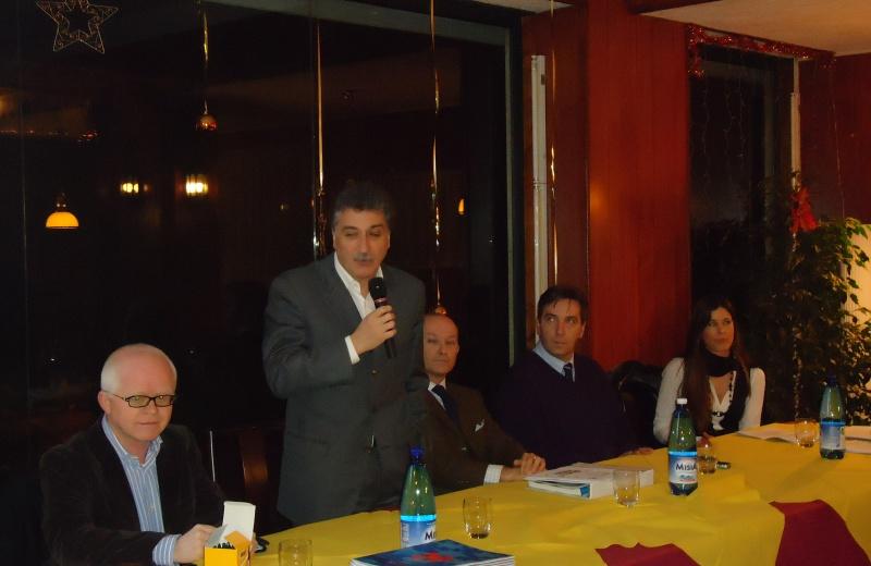Da sinistra.Giuliano Bartolomei, Luigi Merli, Sergio Botta, Roberto Bedini, Mariella Poggi