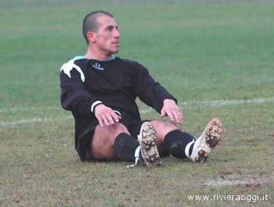Daniele Tealdi quando giocava nel Grottammare nella stagione 2007-08