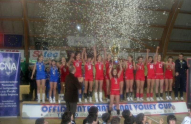Piceno Interational Volley Cup, trofeo Melania 2009: il momento della premiazione