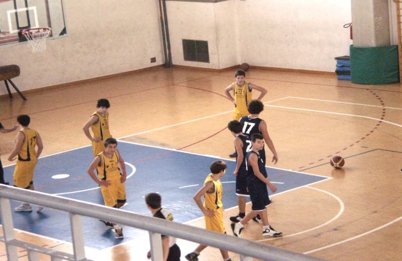 Fase di gioco dell'Adriatica Basket Club San Benedetto Under 15