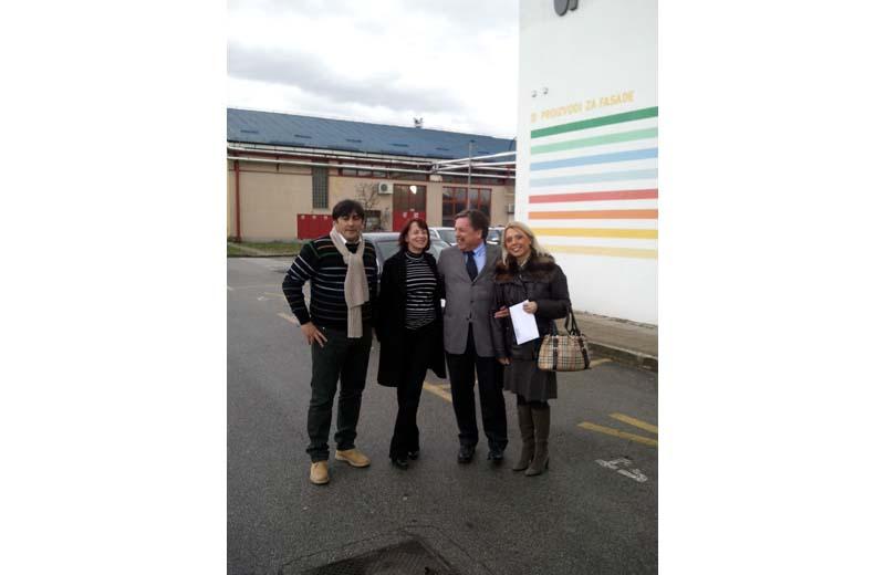 Nobile Capuani, l'ingegner Tamara Urska, l'amministratore delegato di Helios Vladimir Borisov e Alenka Leghissa