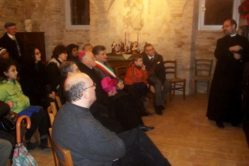 Inaugurazione Sant'Agostino, visione video nella nuova stanza