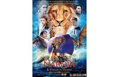 La locandina del terzo film della saga di Narnia