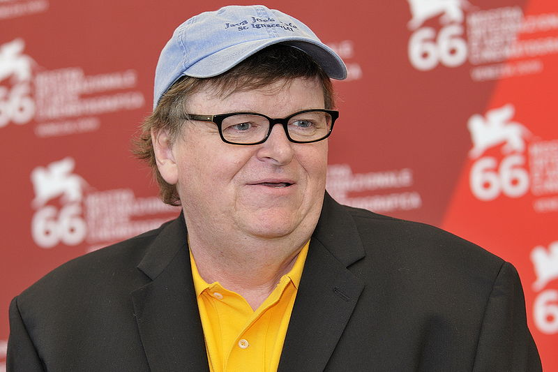 Il regista americano Michael Moore
