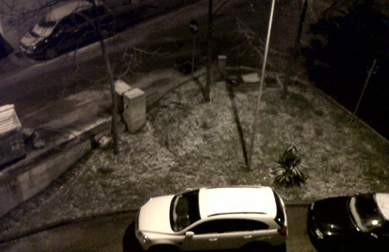 14 dicembre 2010, neve anche a Villa Pigna di Folignano