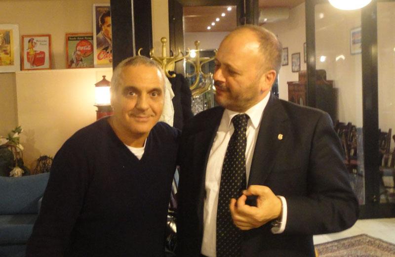 Giorgio Panariello con il sindaco Gaspari