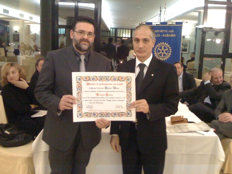 Premio Olivieri 2010.  Filippo Olivieri premia Pierangelo Colombo