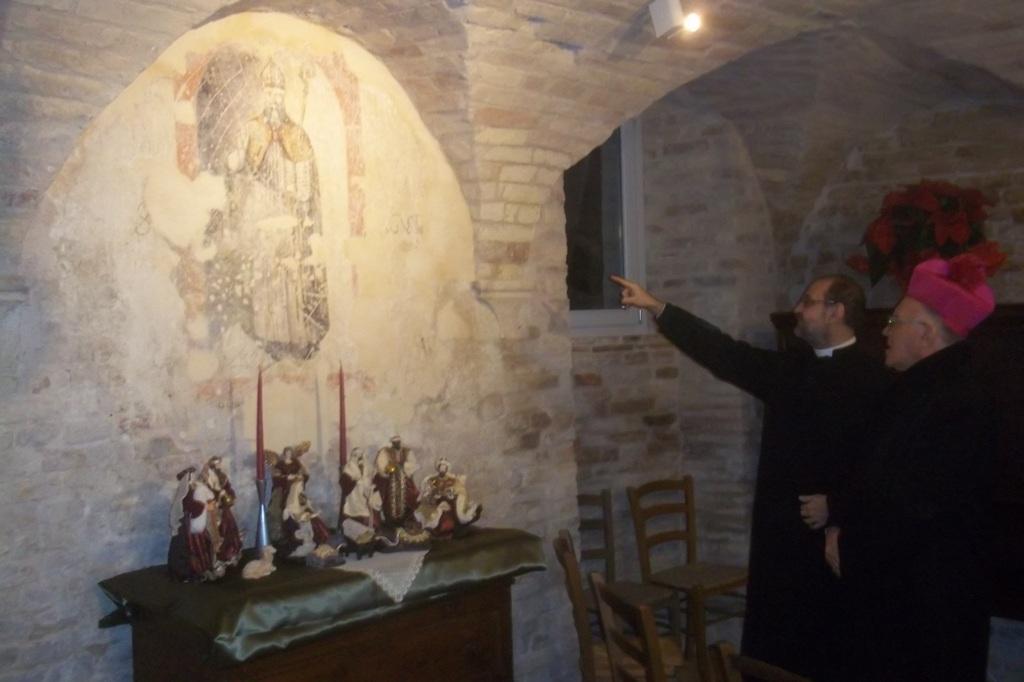 Sant'Agostino, un affresco del '500