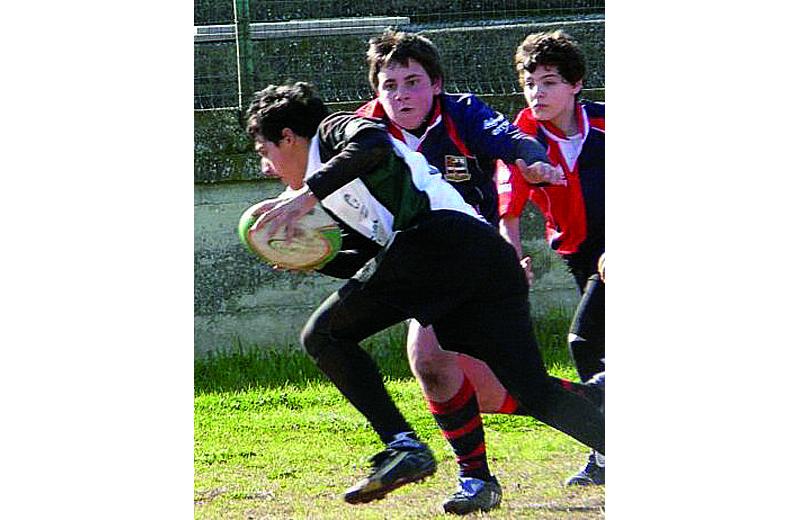 Rugby Samb under 14, che placcaggio con l'Ascoli