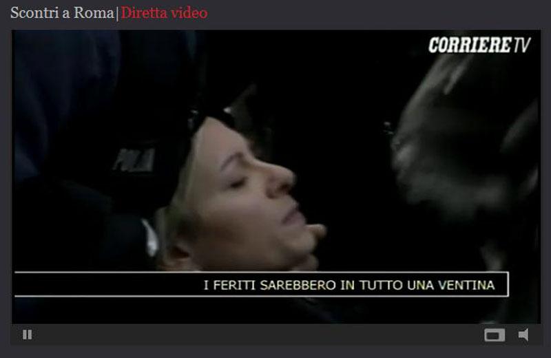 14 dicembre, scontri a Roma, almeno 20 feriti (CorriereTv live)